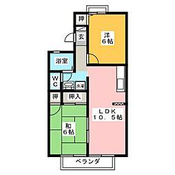 カサベルデII[1階]の間取り