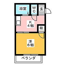 WESTみずほ[1階]の間取り