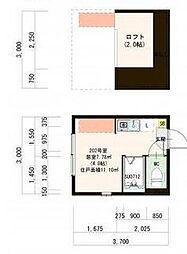 (仮)赤羽デザイナーズ賃貸コーポ[2階]の間取り