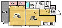FLEX博多南[2階]の間取り