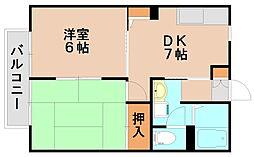 プラムタウン[2階]の間取り