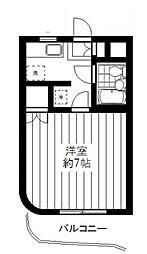 東京都世田谷区喜多見8丁目の賃貸マンションの間取り