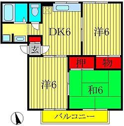 サングレース吉野[1階]の間取り