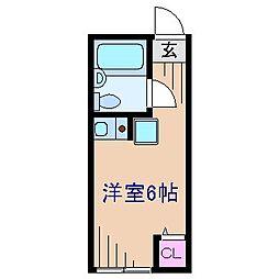 神奈川県横浜市鶴見区上の宮2の賃貸アパートの間取り