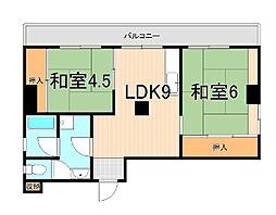 吉川マンション[503号室]の間取り