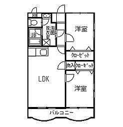ストークハウスサンB棟[1階]の間取り