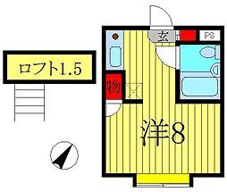 ベルピア五香2-1[2階]の間取り