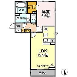 (仮)D-room大谷北[1階]の間取り