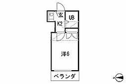 東京都練馬区石神井台6丁目の賃貸アパートの間取り