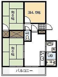 パレス木花台B棟[B101号室]の間取り