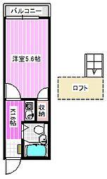 リファインコート八木[2階]の間取り