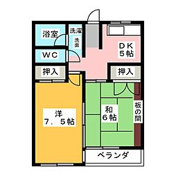 二村マンション[2階]の間取り