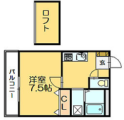 ピア門松A[2階]の間取り