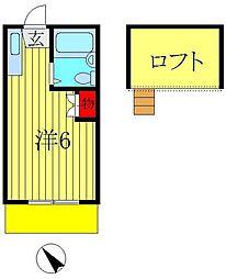 ロフティドリームNO1・2[2階]の間取り