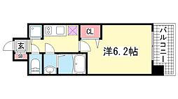 ララプレイス神戸西元町[7階]の間取り
