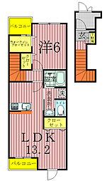 ソル・レヴェンテIIA[2階]の間取り