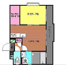 ルミエール百道[2階]の間取り