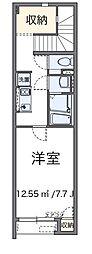 東京都あきる野市瀬戸岡の賃貸アパートの間取り