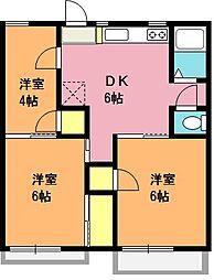 プリンスハイツ[2階]の間取り