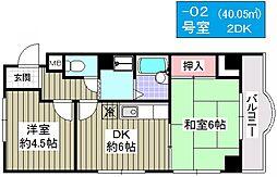 リッツ大阪[202号室]の間取り