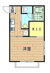 神奈川県川崎市幸区下平間の賃貸アパートの間取り