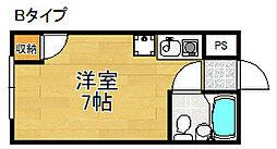 マンションアイリス[4階]の間取り