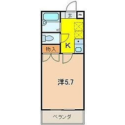 埼玉県さいたま市大宮区桜木町2丁目の賃貸マンションの間取り