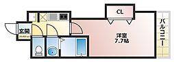 JR大阪環状線 芦原橋駅 徒歩3分の賃貸マンション 4階1Kの間取り