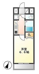 プレサンス名古屋駅前ヴェルロード[5階]の間取り