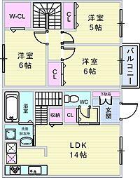 プラハローゼ[1階]の間取り