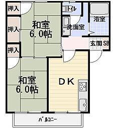 タウンコート守口[2階]の間取り