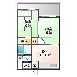 中村マンション[105号室]の間取り