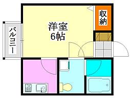 チェリー21[1階]の間取り