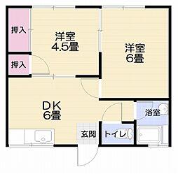 第2鈴木荘[102号室]の間取り