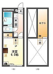 レオパレス五反田[2階]の間取り