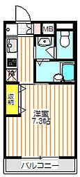ボヌール南大沢[1階]の間取り