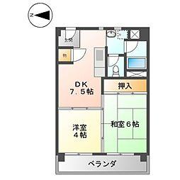 上飯田第2 2号棟[7階]の間取り