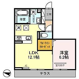 埼玉県さいたま市北区吉野町1丁目の賃貸アパートの間取り