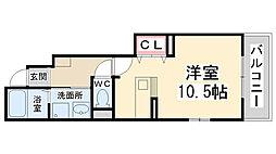ヴィオラ東多田弐番館[102号室]の間取り