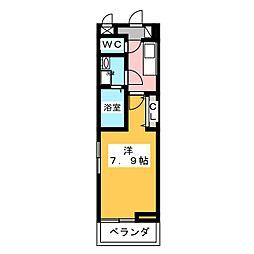 静岡県静岡市清水区入船町の賃貸アパートの間取り