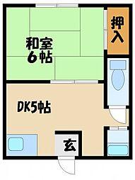 濱西ビル[3階]の間取り