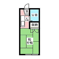 イースタンハイツ連坊B棟[1階]の間取り