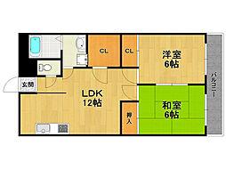 内山マンション[2階]の間取り