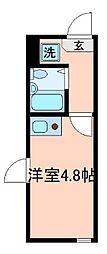 東京都豊島区高松1丁目の賃貸アパートの間取り