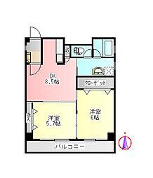 エトワール本町[2階]の間取り