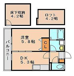 ベルコート博多[1階]の間取り