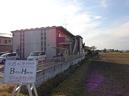 福岡県八女市立野の賃貸アパートの外観