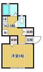 サンハウス[1階]の間取り