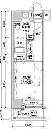 アイルプレミアム文京六義園 5階1Kの間取り