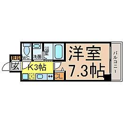 リビエ亀島[6階]の間取り